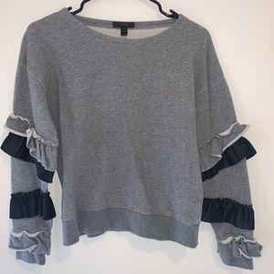 J Crew Ruffle Sweater